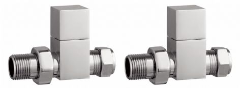 TB - Modern Chrome Square Valves - Straight